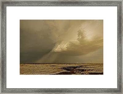 Washburn Hail Shaft Framed Print