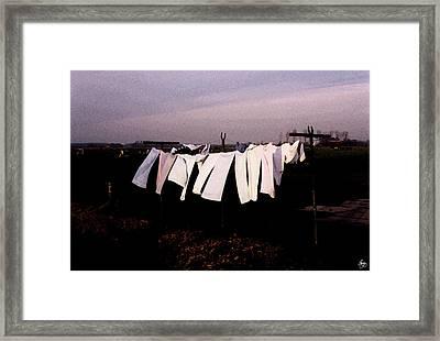 Washday In Amsterdam Framed Print