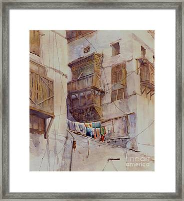 Washday Jeddah Framed Print by Dorothy Boyer