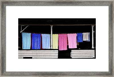 Washday In Stark Nh Framed Print