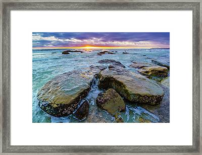 Washed By The Water Framed Print by Scott Campbell
