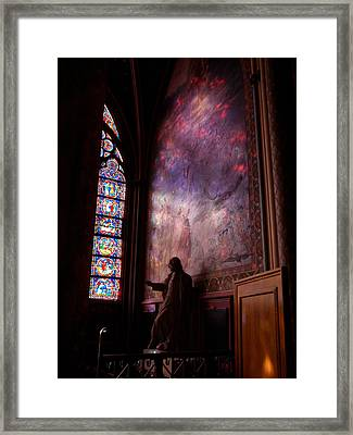 Washed In Rose Glass Framed Print by Edan Chapman