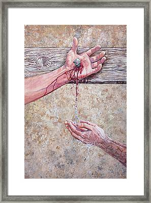 Washed In The Blood Framed Print by Aaron Spong