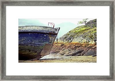 Washed Up Framed Print by John  Bartosik