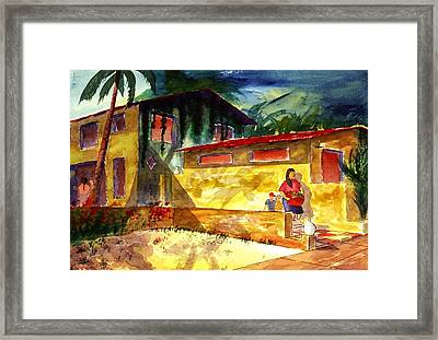 Washer Women Framed Print by Buster Dight