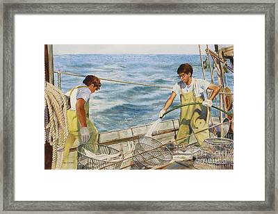 Washing Fish Framed Print by Karol Wyckoff