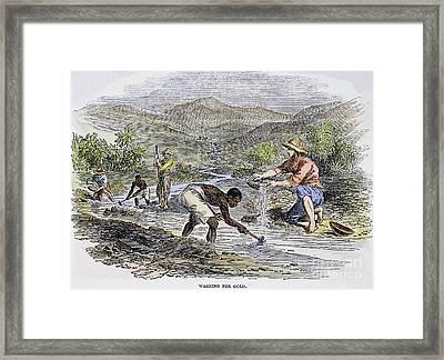 Washing For Gold, 1849 Framed Print by Granger
