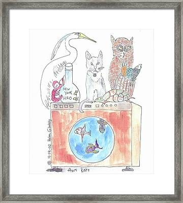 Washing Machine Friends Framed Print