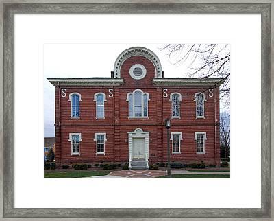 Washington And Franklin Hall Framed Print by Erik Berglund