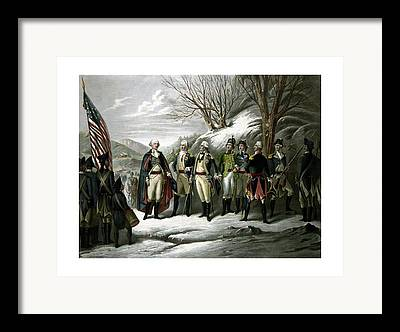 Continental Army Drawings Framed Prints