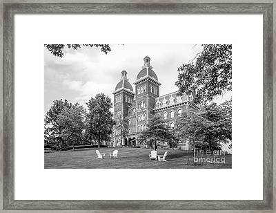 Washington And Jefferson College Old Main Framed Print by University Icons