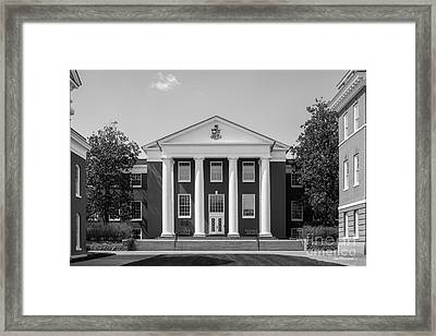 Washington And Lee University Huntley Hall Framed Print