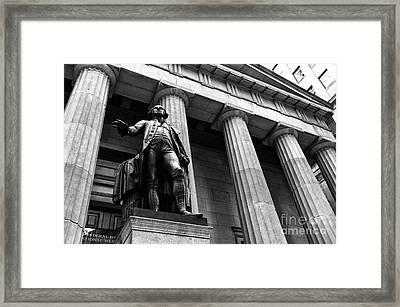 Washington At Federal Hall Mono Framed Print