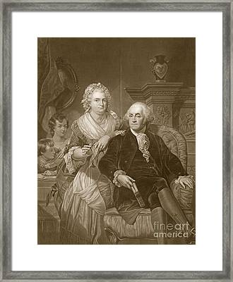 Washington At Home Framed Print by Alonzo Chappel