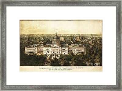 Washington City 1857 Framed Print by Jon Neidert