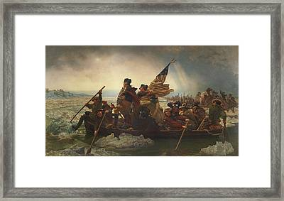 Washington Crossing The Delaware Painting  Framed Print by Emanuel Gottlieb Leutze