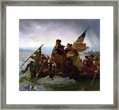 Washington Crossing The Delaware River - Detail Framed Print