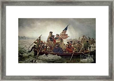 Washington Crossing The Delaware River Framed Print by Emanuel Gottlieb Leutze