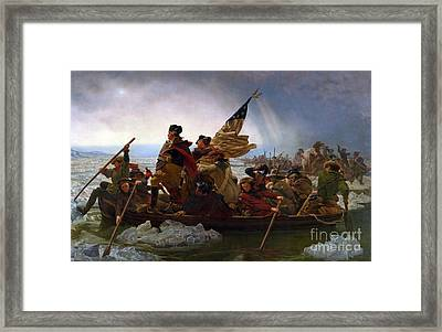 Washington Crossing The Delaware River Framed Print by Emmanuel Gottlieb Leutze