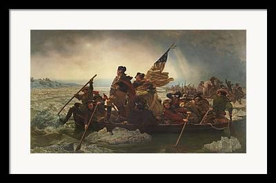 Patriots Paintings Framed Prints