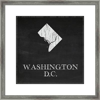 Washington Dc - Chalk Framed Print