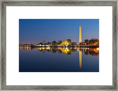 Washington Dc Dawn Monument Framed Print