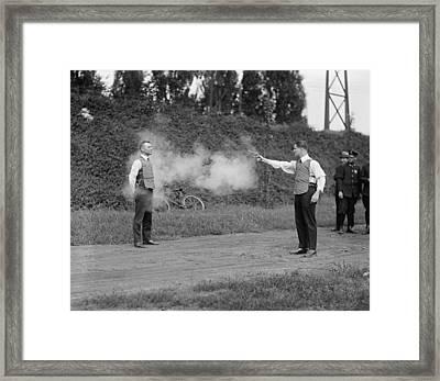 Washington, D.c. Law Enforcers Test Framed Print by Everett