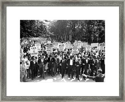 Washington, Dc Leaders Of The March Framed Print by Everett