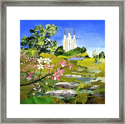 Washington Dc Temple Framed Print