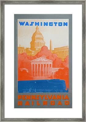 Washington Dc V Framed Print by David Studwell