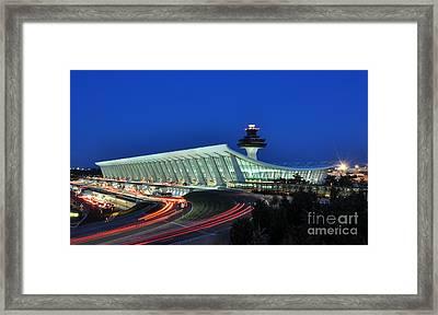 Washington Dulles International Airport At Dusk Framed Print