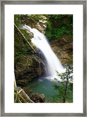 Washington Falls 2 Framed Print by Marty Koch