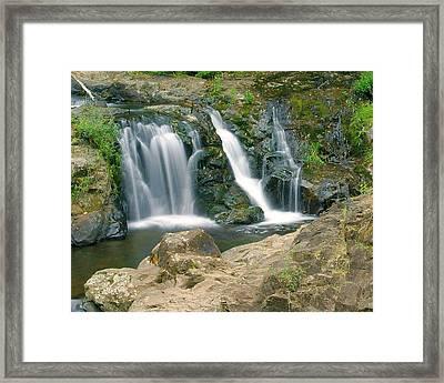 Washington Falls 3 Framed Print by Marty Koch