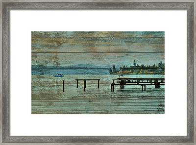 Washington Harbor Barn Door Framed Print
