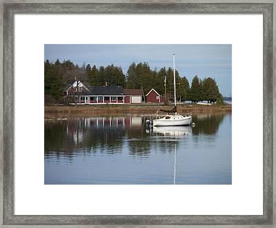Washington Island Harbor 4 Framed Print