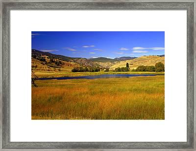 Washington Landscape Framed Print by Marty Koch