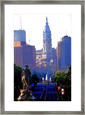 Washington Looking Over To City Hall Framed Print