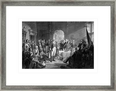 Washington Meeting His Generals Framed Print by War Is Hell Store