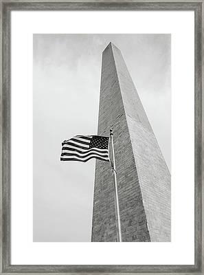 Washington Memorial Framed Print by Brandon Bourdages