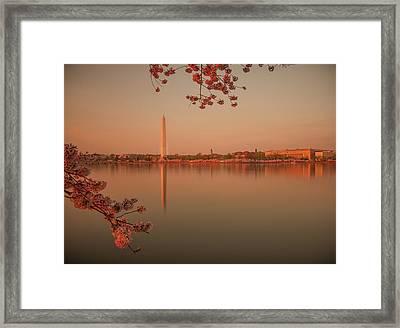 Washington Monument Framed Print by Adettara Photography
