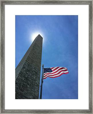 Washington Monument Framed Print by Andrew Soundarajan