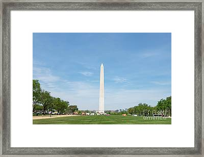 Framed Print featuring the photograph Washington Monument by Anthony Baatz