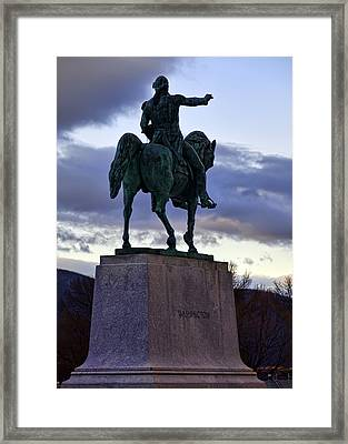 Washington Monument At West Point Framed Print