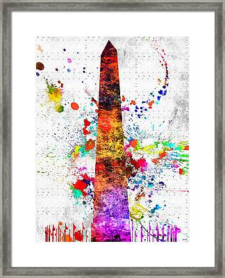 Washington Monument Grunge 2 Framed Print