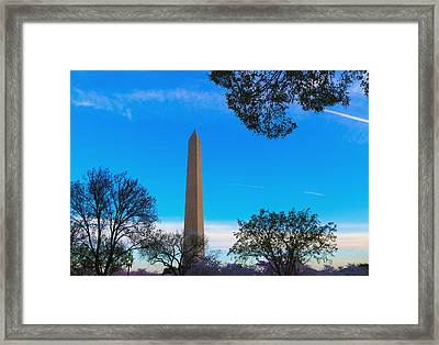 Washington Monument Framed Print by Heidi Pix
