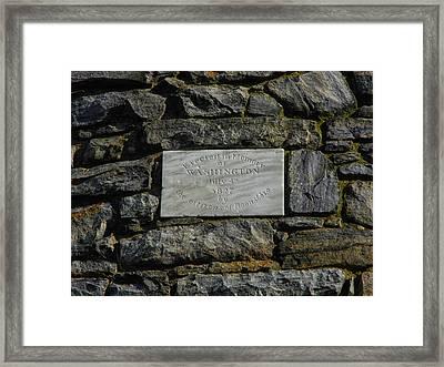 Washington Monument In Maryland Plaque Framed Print by Raymond Salani III