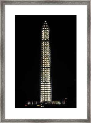 Washington Monument In Repair Framed Print