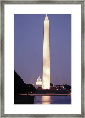 Washington Monument Washington D.c. Wading Pool Framed Print by Richard Singleton