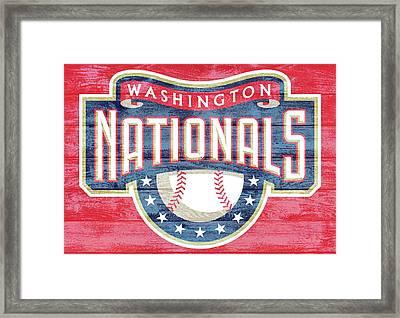 Washington Nationals Barn Door Framed Print by Dan Sproul