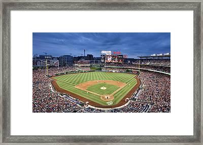 Washington Nationals Park - Dc Framed Print by Brendan Reals